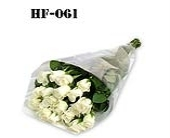 18 Roses - White - Wrapped in Cello in Norwalk CT, Richard's Flowers, Inc.