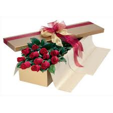 1 Dozen Long Stem Boxed Roses in Toronto ON, Rosedale Kennedy Flowers