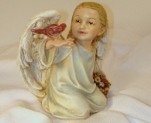 Angel with Red Bird in Covington KY, Jackson Florist, Inc.