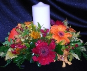 Festive Fall Unity Candle in Green Bay, Wisconsin, Enchanted Florist