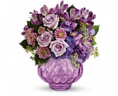 Teleflora's Lush and Lavender with Roses in Burlington WI, gia bella Flowers and Gifts