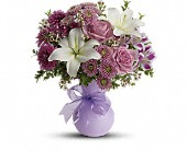Teleflora's Precious in Purple in Fairfield CT, Hansen's Flower Shop and Greenhouse