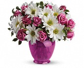 Teleflora's Pink Daisy Delight in Brooklyn NY, Artistry In Flowers