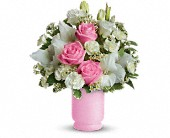 Teleflora's Pink and White Delight in Oakland CA, Lee's Discount Florist