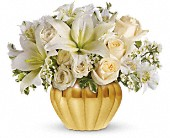 Teleflora's Touch of Gold in Huntington Beach CA, A Secret Garden Florist