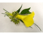 Yellow Mini Calla Lily Boutonniere in Smyrna GA, Floral Creations Florist