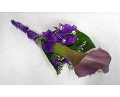 Purple Mini Calla Lily Boutonniere in Smyrna GA, Floral Creations Florist