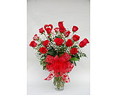 2 Dozen Roses Arranged in Utica NY, Chester's Flower Shop And Greenhouses