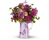 Teleflora's Butterfly Pitcher Bouquet in San Clemente CA, Beach City Florist