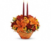 Teleflora's Amber Waves Centerpiece in Katy TX, Kay-Tee Florist on Mason Road