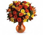Teleflora's Fabulous Fall Roses in Burlington WI, gia bella Flowers and Gifts