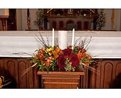 Fall Unity Centerpiece in Toledo, Ohio, Myrtle Flowers & Gifts