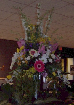 Food Table Centerpiece in Huntington, West Virginia, Archer's Flowers and Gallery