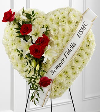 The FTD� Salute to a Patriot� Standing Heart in Highlands Ranch, Colorado, TD Florist Designs