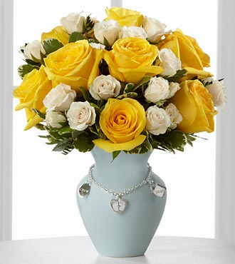 The FTD� New Mother's Charm� Rose Bouquet - Boy -  in Highlands Ranch CO, TD Florist Designs