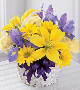 The FTD� Spirit of Spring� Basket - BASKET INCLUDE in Highlands Ranch CO, TD Florist Designs