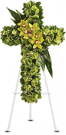 Heaven''s Comfort Cross in Staten Island, New York, Kitty's and Family Florist Inc.