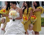 Wedding Party in West Los Angeles, California, Westwood Flower Garden