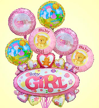Baby Girl Marquee Mylar in Woodbridge VA, Lake Ridge Florist
