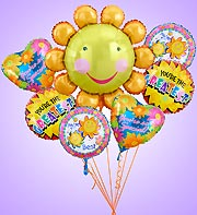 Smile Flower Mylar Bundle in Woodbridge VA, Lake Ridge Florist