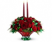 Teleflora's Joyful Christmas Centerpiece in Houston TX, Clear Lake Flowers & Gifts