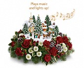 Thomas Kinkade's Christmas Carolers by Teleflora in Pell City AL, Pell City Flower & Gift Shop