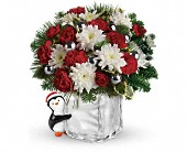 Teleflora's Send a Hug Penguin Bouquet in Pell City AL, Pell City Flower & Gift Shop