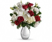 Teleflora's Silver Noel Bouquet in Burlington WI, gia bella Flowers and Gifts