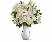 Teleflora's Shimmering White Bouquet in Burlington WI, gia bella Flowers and Gifts
