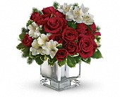 Teleflora's Christmas Blush Bouquet in San Jose CA, Rosies & Posies Downtown