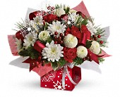 Teleflora's Winter Snowflake Present Perfect in Laurel MD, Rainbow Florist & Delectables, Inc.