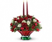 Teleflora's Colors of Christmas Centerpiece in Kitchener ON, Lee Saunders Flowers