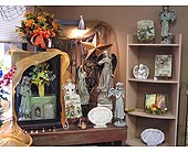 Stone, Ceramic, Lighted Angels in New Martinsville, West Virginia, Barth's Florist