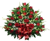 Signature Roses and Dendrobium Sympathy Basket in Indianapolis IN, Steve's Flowers & Gifts