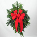 Christmas Door Swag in Big Rapids, Cadillac, Reed City and Canadian Lakes MI, Patterson's Flowers, Inc.