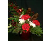 M & W''s Cheers To The Holidays in Chatham VA, M & W Flower Shop