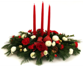 Traditional Christmas - 3 candle in Grimsby ON, Cole's Florist Inc.