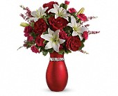 Teleflora's XOXO Bouquet with Red Roses in San Jose CA, Rosies & Posies Downtown