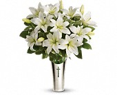 Teleflora's Sacred Cross Bouquet in Edmonton AB, Petals For Less Ltd.