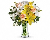 Teleflora's Daisies and Sunbeams in Cerritos CA, The White Lotus Florist