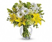 Teleflora's Brightly Blooming in Johnstown NY, Studio Herbage Florist