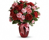 Dance with Me Bouquet with Red Roses in Burlington WI, gia bella Flowers and Gifts