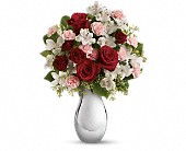 Teleflora's Crazy for You Bouquet with Red Roses in San Jose CA, Rosies & Posies Downtown