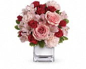 Teleflora's Love That Pink Bouquet with Roses in Burlington WI, gia bella Flowers and Gifts