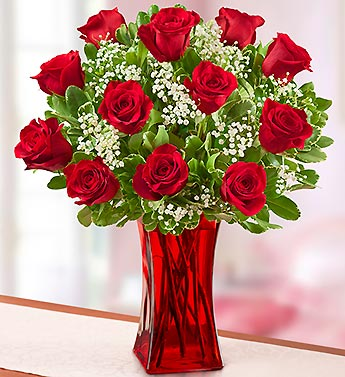 Blooming Love� 12 Premium Red Roses in Red Vase in Highlands Ranch CO, TD Florist Designs