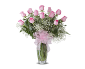 PINK DOZEN ROSES ARRANGED in Gainesville FL, Floral Expressions Florist