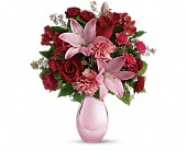 Teleflora's Roses and Pearls Bouquet in Shreveport LA, Aulds Florist