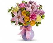 Teleflora's Perfectly Pastel in Beaumont TX, Blooms by Claybar Floral