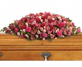 A Life Loved Casket Spray in San Clemente CA, Beach City Florist