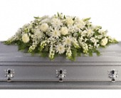 Enduring Light Casket Spray in Beaumont TX, Blooms by Claybar Floral